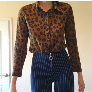 Vintage 90s leopard print shirt